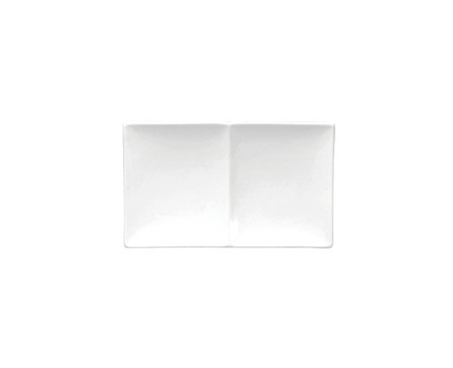 Oneida Foodservice F8010000894 Bright White 2 Compartment Platter 11 3/4 In (Set of 24)