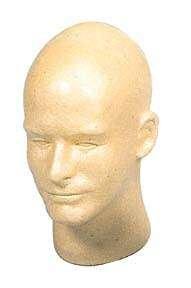 Gold Male Mannequin Foam Head