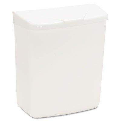 HOSPECO® Wall Mount Sanitary Napkin Receptacle, Plastic, 1gal, White