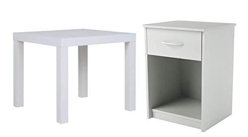 Cool Amazon Com Mainstays Parsons Square End Table White Bundle Creativecarmelina Interior Chair Design Creativecarmelinacom