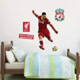 Official Liverpool FC - Liverpool FC - Roberto Firmino Shooting Player Decal + LFC Wall Sticker Set Decal Mural Print Vinyl (120cm Height)
