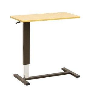 [宅送] 昇降ベッドサイドテーブル テーブル巾80センチ 2色対応 オーバーテーブル 2色対応 B015W5MOB0 ライトブラウン色 ライトブラウン色 B015W5MOB0, EXTRA ISSUE:97bb40cf --- a-school-a-park.ca