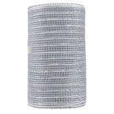Silver Metallic Mesh Ribbon - 5 1/2
