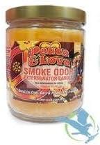 Smoke Odor Exterminator 13 oz Jar Candles Peace & Love, (2) Set of Two Candles.
