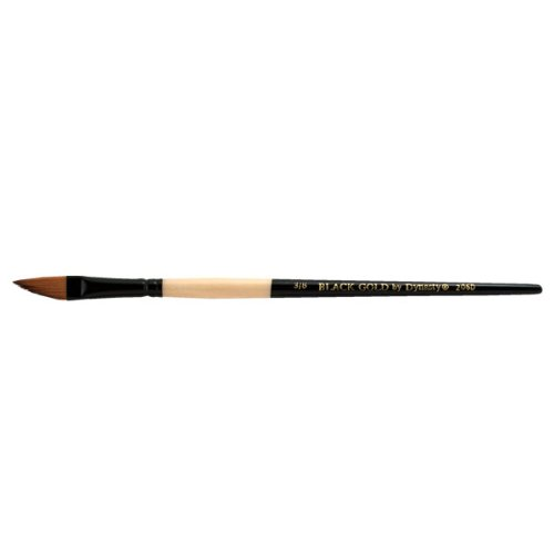 Dynasty Brush (Dynasty Black Gold Series Synthetic Brushes Short Handle 3/8 in. dagger)