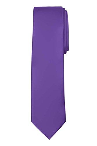 Jacob Alexander Solid Color Men's Regular Tie - Violet (Violet Solid Tie)