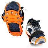 Climber Horseshoe Underwrite - Outdoor Crampon Tooth Hyacinth Non Slip Shoe Cover Hiking Climbing Claw Chain - Cut Spread Masking Binding Screening Iron Brake Insure Covert - 1PCs