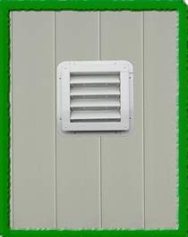 Apple Outdoor Supply SHED VENT-8x8 (WHITE) by Apple Outdoor Supply
