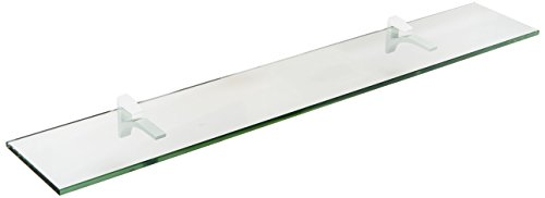 Spancraft Glass Cardinal Glass Shelf, White, 8 x - Glass Inch 42 Shelf