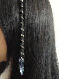 ACCESSOIRE CHEVEUX MEDIEVAL et celtique pour cheveux. DECORATION CELTIQUE  LONGUE CRISTAL. ORNEE D\u0027