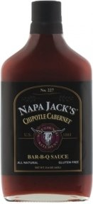 Napa Jack's Bar-B-Q Sauce 15.4oz - 16.6oz Glass Bottle (Pack of 3) Select Flavor Below (Chipotle Cabernet 15.6oz)