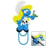 Cartoon The Smurfs Style Smurfette Figure Creative PVC Bookmark Bookmarker with Clip