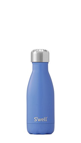 - S'well Vacuum Insulated Stainless Steel Water Bottle, 9 oz, Monaco Blue