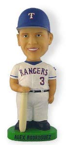 Texas Rangers Alex Rodriguez Bobble Dobbles Bobble Head Doll