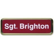 Xstamper Gold Frame Name Badge