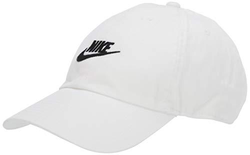 (NIKE Sportswear Unisex H86 Futura Cap, White/White/Black, One Size)