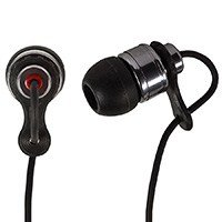 Hi-Fi Premium Noise Isolating Earphones - Black & Red [Electronics]