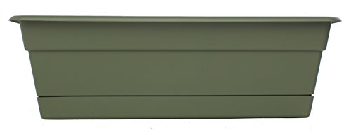 Bloem DCBT18-42 Dura Cotta Plant Window Box, 18-Inch, Living Green by Bloem