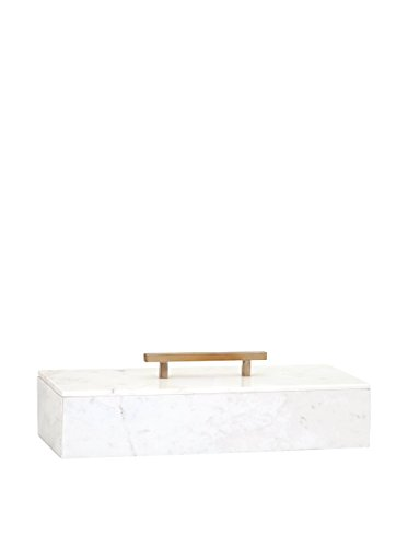 Imax Lidded Box - Imax 82507 Keely Marble Lidded Box, White