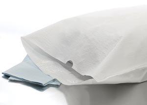 Graham Medical 48766 Tissue/Poly Pillowcase, White, 21'' Width, 30'' Length (Pack of 100)