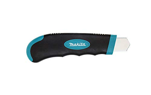 Makita Utility Knife Snap-Off Easy Loading Retractable Extra Blades Comfortable Rubber Handle Total 8 Blades 3