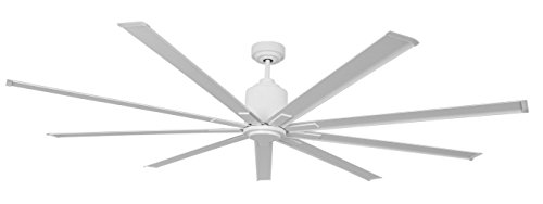 """Big Air 96"""" Industrial Ceiling Fan, Wet Locations, White"""