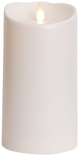 Luminara Outdoor Flameless Candle: Plastic Finish, Unscented Moving Flame Candle with Timer 7'',Ivory, cream by Luminara