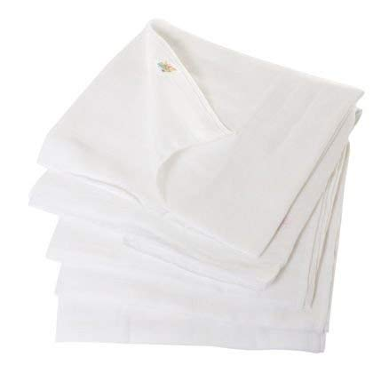 Tiny Care Tinycare White Plain Square Nappies Set Of 5  Medium 60X60Cm