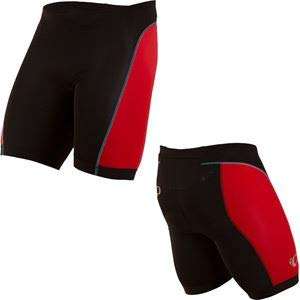 Pearl iZUMi Men's Select Pursuit Tri Shorts, Black/True Red, ()