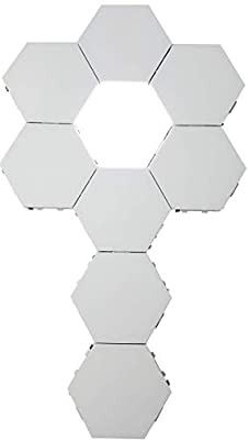 Penophiary Hexlight Modular Touch Lights Panels Wall Lighting Tiles Hex Lights Touch Night Light Magnetic Hexagonal Wall Light Lamps Hexagonal Lights Honeycomb Tile Quantum Lamp Hex Light LED (5 Pcs)