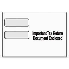 * Double Window Tax Form Envelope for 1099 Misc/R Forms, 8 1/2 x 3 3/4,
