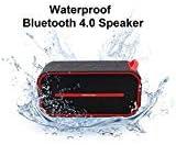 BMR Waterproof Bluetooth Speaker Portable Wireless Bluetooth Speaker with Super Bass Radiator Output Bluetooth 4.0