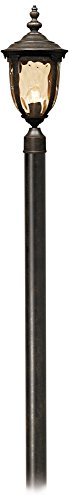 Cheap Bellagio 103″ High Bronze Outdoor Post Light with Pole
