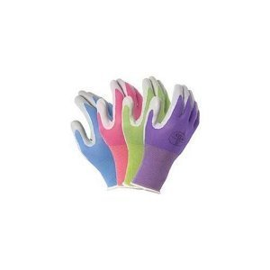 (4 Pack Atlas Glove NT370 Atlas Nitrile Garden Gloves - Small (Assorted Colors) by Atlas Glove)
