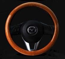 CAADDGY Coprivolante in carbonio Coprivolanti in legno Mogano Retro in pelle Volanti per auto Mozzi Mozzi Accessori interni in///carbonio