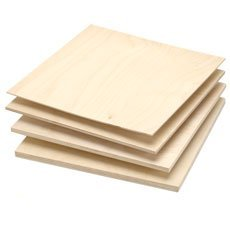 One sheet of Baltic Birch Plywood, 6mm - 1/4'' x 12'' x 12'' by Woodcraft Woodshop (Image #1)