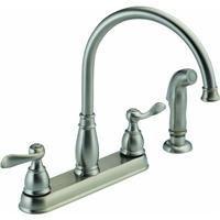 Delta Kitchen Faucet Low Lead Two Handle H Arc Spout Windemere 8