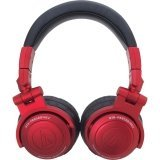 Audio Technica ATH-PRO500MK2 Professional DJ Monitor Headphones (Red)