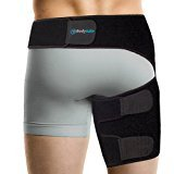 Bodymate Compression Wrap for Groin Hip Thigh Quad Hamstring Joints Sciatica Nerve Pain Relief Strap, Adjustable Support Brace for men/women providing recovery from leg muscle injury pull Belt/Sleeve