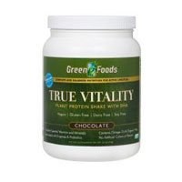 True Vitality Chocolate Protein Shake By Green Foods - 25.2 Ounces ( Multi-Pack) by Green Foods