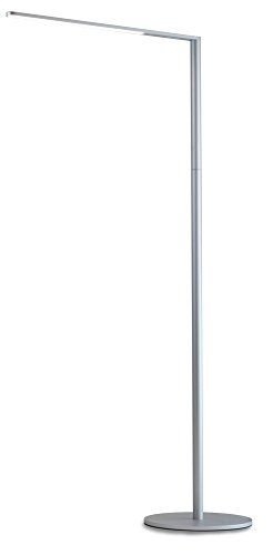 Koncept Lady-7 Silver LED Floor Lamp with USB Port