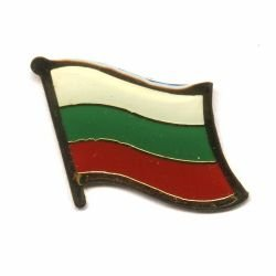 Bulgaria Country Flag Small Metal Lapel Pin Badge .. 3/4 X 3/4 Inches ... New