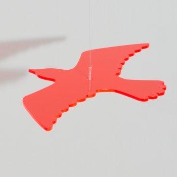 Sonnenfänger - Sun Dancer VOGEL 300 rot - wetterfest, lichtreflektierend - Acrylscheibe: Ø30cm - inkl. Kegelzapfen und Nylonschnur zum Hängen Colours in Motion