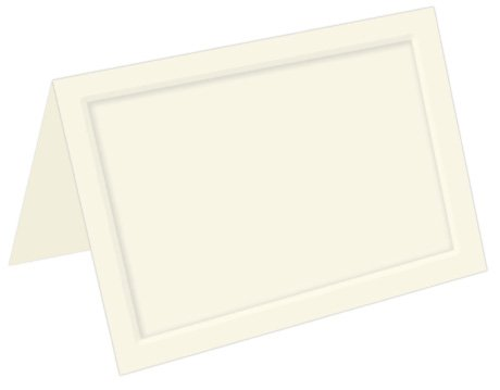 Ecru Folder (Emboss Panel Folder, A1 (3 1/2 x 4 7/8), LCI Ecru Cardstock, 65lb, 50 pack)