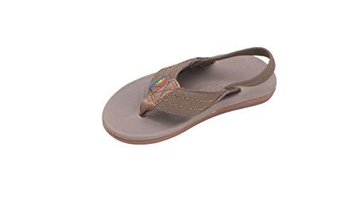 Rainbow Sandals Kid's Cape Molded Rubber Sandal, Sierra Brown, Toddler 5-6 B(M) US Brn Soft Toe Boot