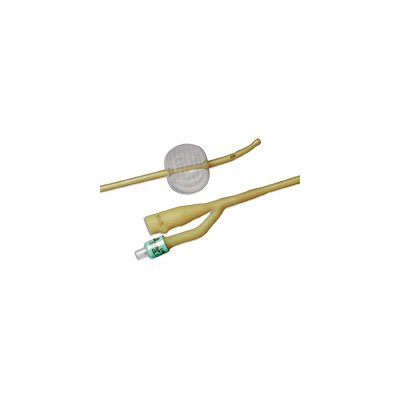 2 Way Foley Catheter - Bard Medical 0168L18 BARDEX LUBRICATH Foley Catheter, 2-Way, Specialty, Carson Model, Medium Olive Coude Tip, Single Drainage Eye, Balloon, 5 cc, 18FR Size (Pack of 12)