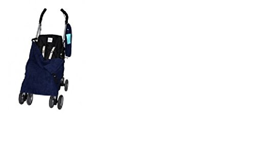 BB025 Stay-Put Reversible Double Navy Buggy Blanket