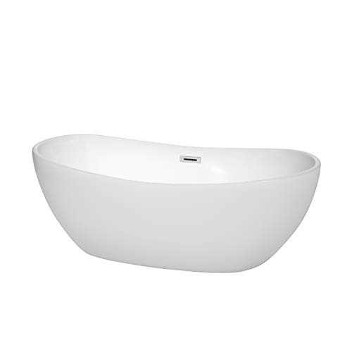 Wyndham Collection WCOBT101465 Rebecca Freestanding Bathtub, 65