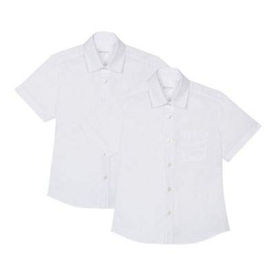 Debenhams Boys 2Pk Ss Shirt Slim Fit