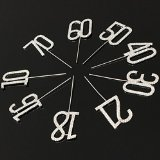 Numbers Monogram Decor Crystal Rhinestone Cake Topper Decoration for Birthday Party Wedding - Silver (18) (Edible Birthday Numbers compare prices)